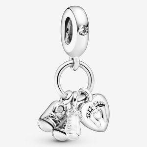 Pandora Baby Bottle & Shoes Dangle Charm